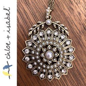 Chloe + Isabel Jewelry - 🆕 Starburst + Seed Pearl Long Pendant Neck N174B
